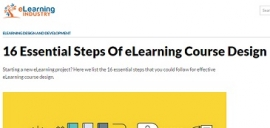 E-Learning Course Design: 16 Essential Steps